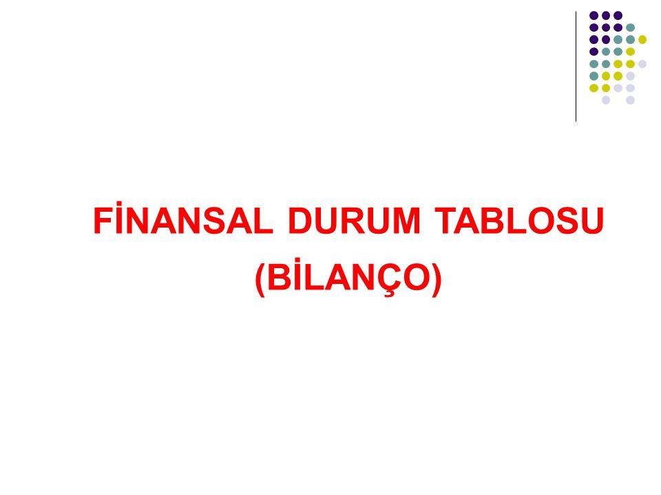 FİNANSAL DURUM TABLOSU (BİLANÇO)