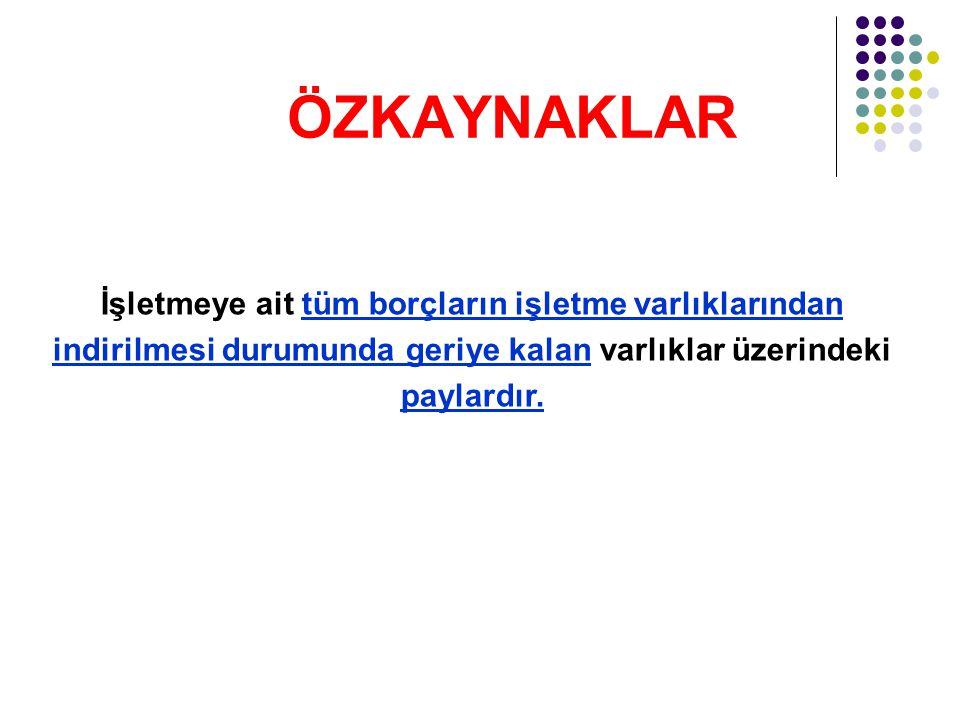 ORAN ANALİZİ FİNANSAL YAPI ANALİZİ ORANLARI 1.
