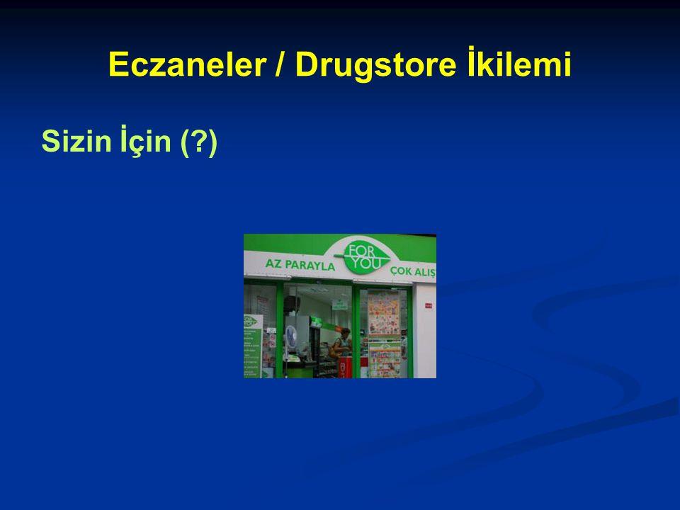 Eczaneler / Drugstore İkilemi Sizin İçin (?)