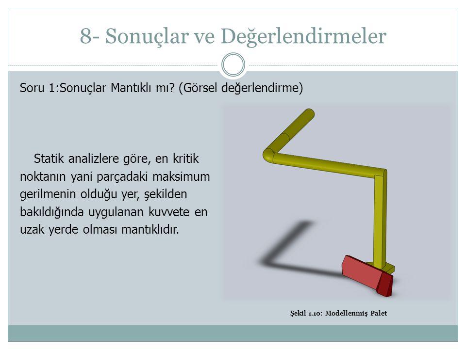 8- Sonuçlar ve Değerlendirmeler Soru 1:Sonuçlar Mantıklı mı.