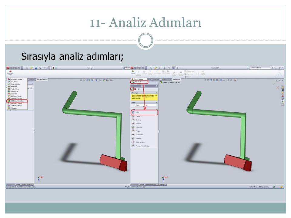 11- Analiz Adımları Sırasıyla analiz adımları;