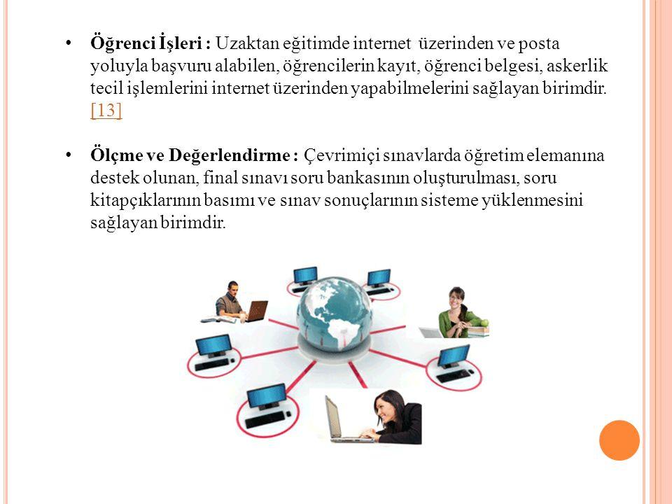 Öğrenci İşleri : Uzaktan eğitimde internet üzerinden ve posta yoluyla başvuru alabilen, öğrencilerin kayıt, öğrenci belgesi, askerlik tecil işlemlerin