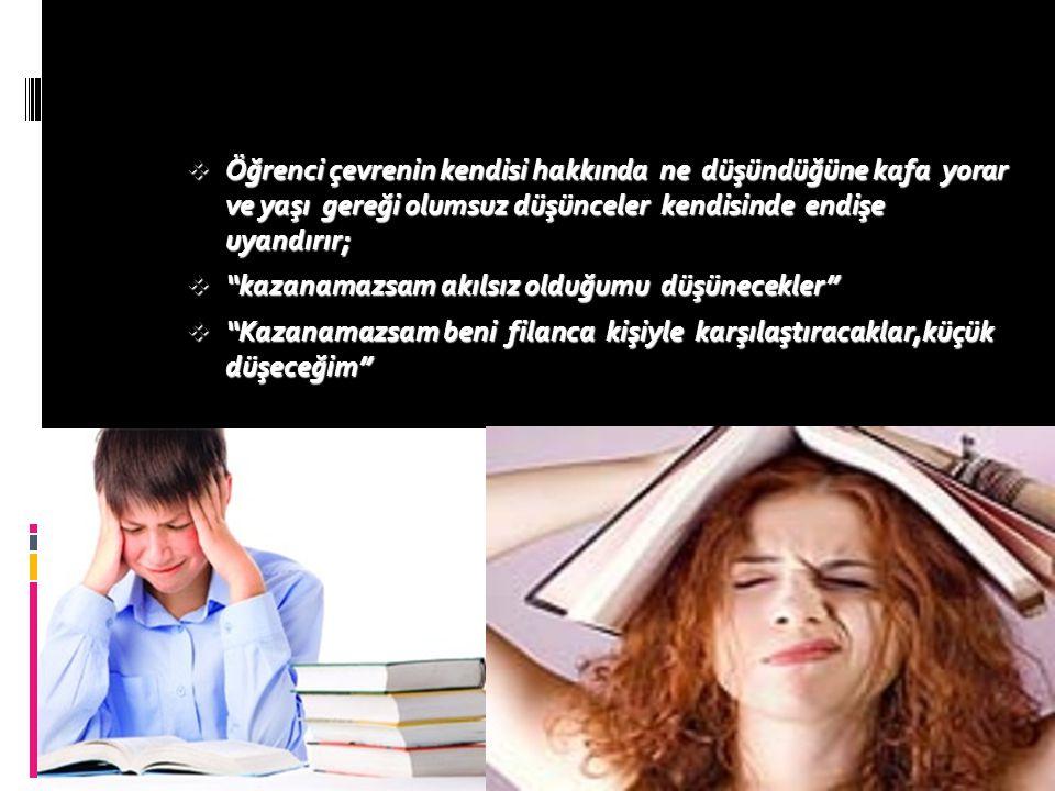  Zamanı iyi kullanamama,  Kötü çalışma alışkanlıkları,  Beklenti düzeyi,  Mükemmeliyetçi yaklaşım,  Görev ve sorumlulukları erteleme,  Başarısız