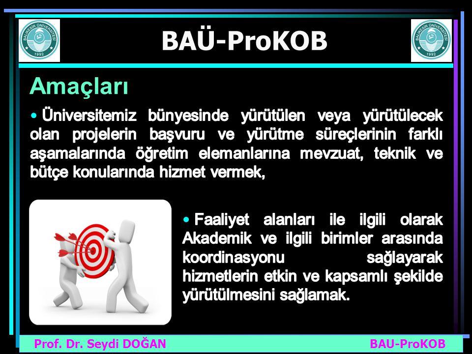 Prof. Dr. Seydi DOĞAN BAU-ProKOB BAÜ-ProKOB Amaçları