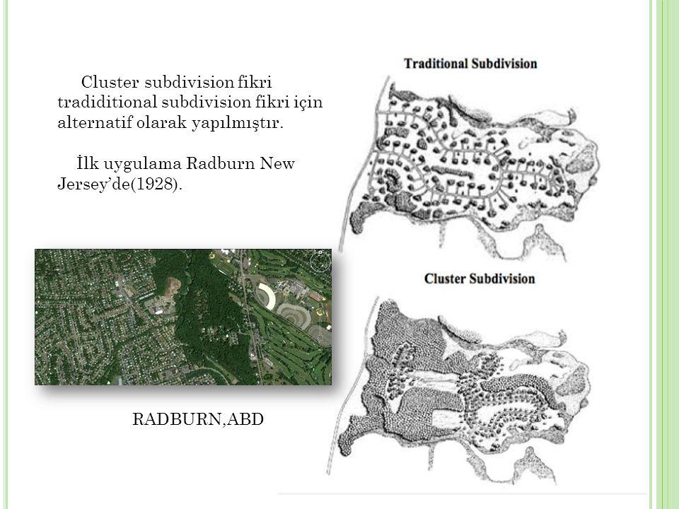 Cluster subdivision fikri tradiditional subdivision fikri için alternatif olarak yapılmıştır.