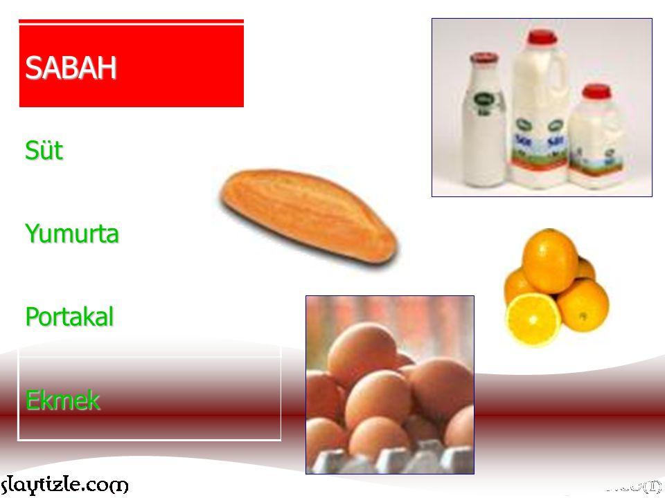 SABAHSüt Yumurta Portakal Ekmek