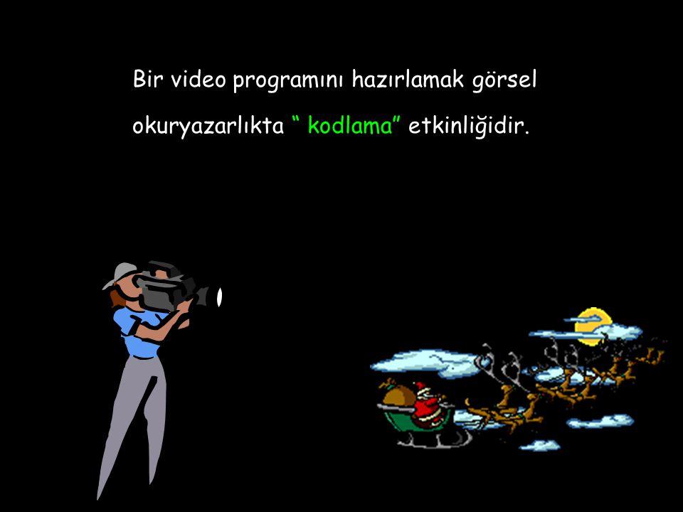 """Bir video programını hazırlamak görsel okuryazarlıkta """" kodlama"""" etkinliğidir."""