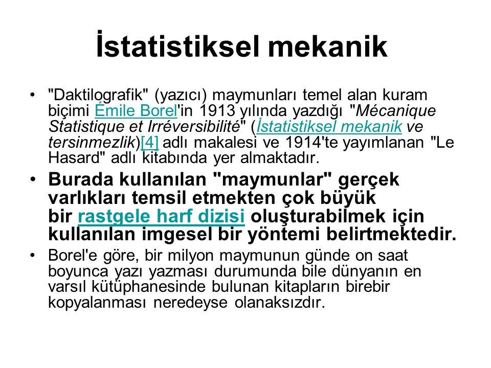 İstatistiksel mekanik