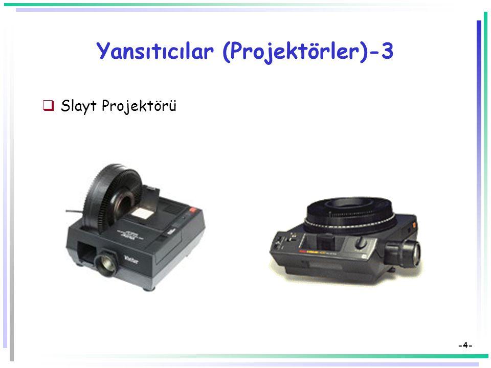 -3- Yansıtıcılar (Projektörler)-2  Tepegöz