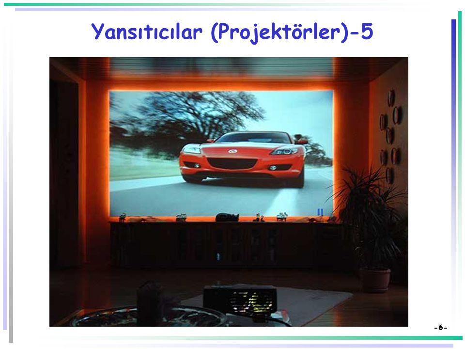 -5- Yansıtıcılar (Projektörler)-4  Video Projektörü