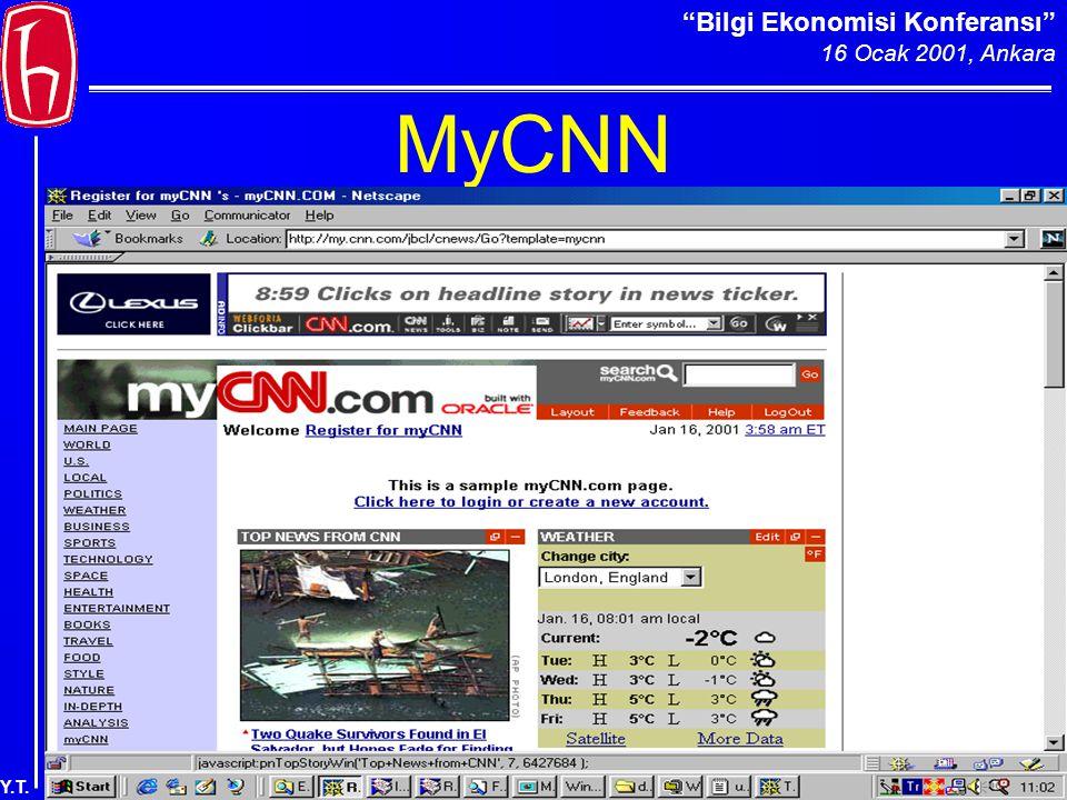 Bilgi Ekonomisi Konferansı 16 Ocak 2001, Ankara Y.T. MyCNN