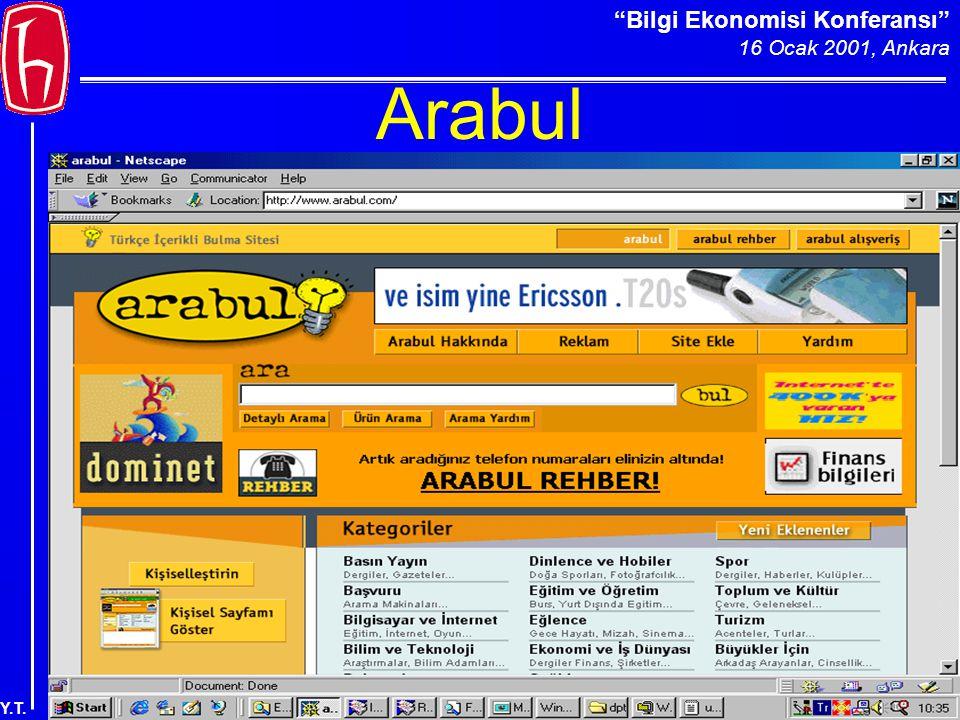 Bilgi Ekonomisi Konferansı 16 Ocak 2001, Ankara Y.T. Arabul
