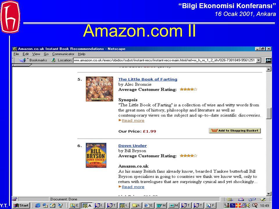 Bilgi Ekonomisi Konferansı 16 Ocak 2001, Ankara Y.T. Amazon.com II