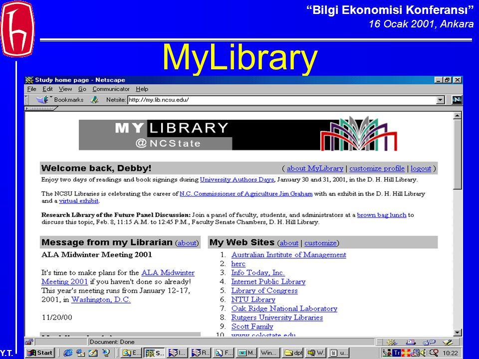 Bilgi Ekonomisi Konferansı 16 Ocak 2001, Ankara Y.T. MyLibrary