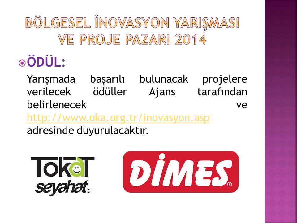  ÖDÜL: Yarışmada başarılı bulunacak projelere verilecek ödüller Ajans tarafından belirlenecek ve http://www.oka.org.tr/inovasyon.asp adresinde duyuru