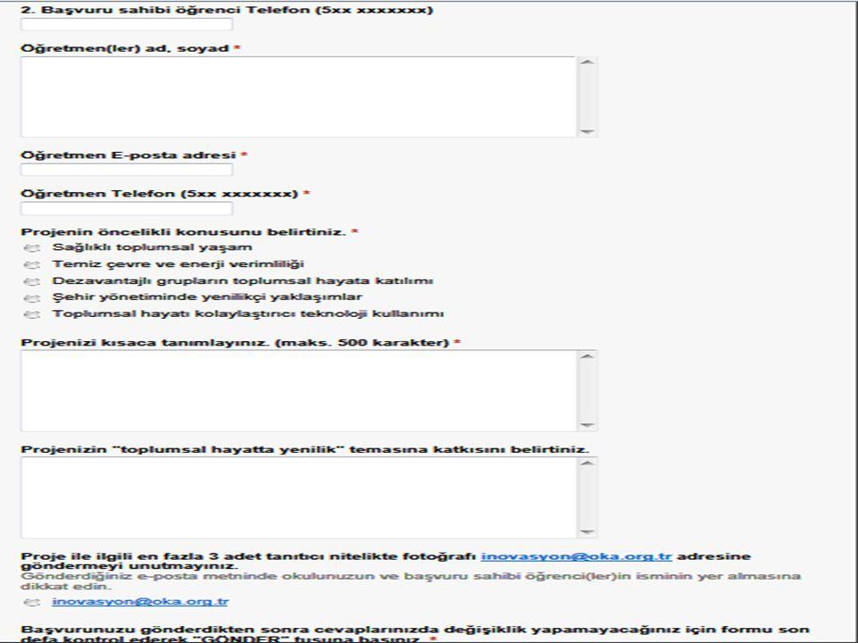 Yarışmaya katılmak isteyenlerin başvuru formunu son başvuru tarihi olan 18/04/2014 Cuma günü saat 17.00'ye kadar OKA web sitesi üzerinden elektronik ortamda tamamlamış olmaları gerekmektedir.