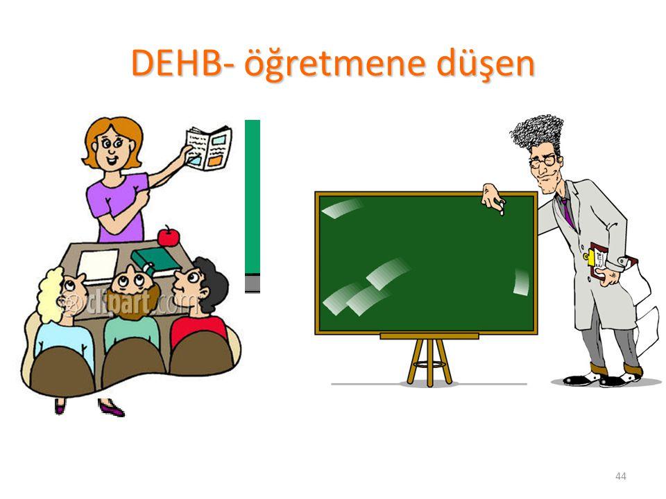 44 DEHB- öğretmene düşen