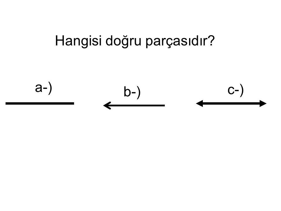 Hangisi doğru parçasıdır? a-) b-) c-)