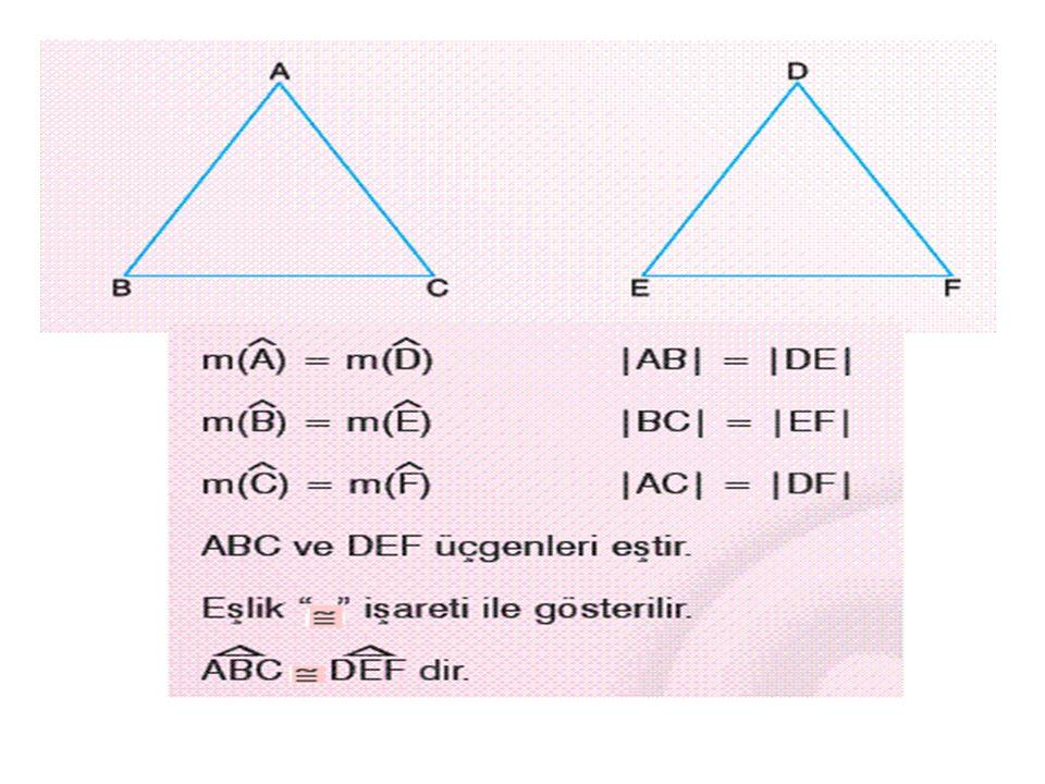 Eş şekiller ve çokgenler benzerdir. BenzerlikBenzerlik oranı 1 dir.