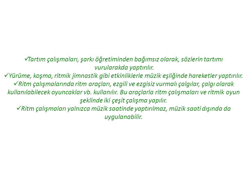 3.MÜZİKLİ AKTİVİTELER HAZIRLAMA 3.1.