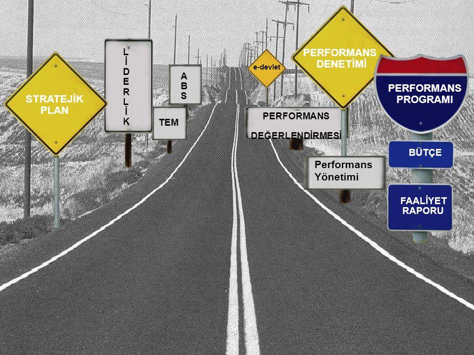 4 e-devlet ABSABS PERFORMANS DEĞERLENDİRMESİ STRATEJİK PLAN PERFORMANS DENETİMİ PERFORMANS PROGRAMI BÜTÇE FAALİYET RAPORU LİDERLİKLİDERLİK TEM Performans Yönetimi