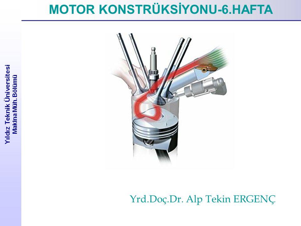 İçten Yanmalı Motor Tasarımı Yıldız Teknik Üniversitesi Makina Müh. Bölümü kJ/kmol.deg