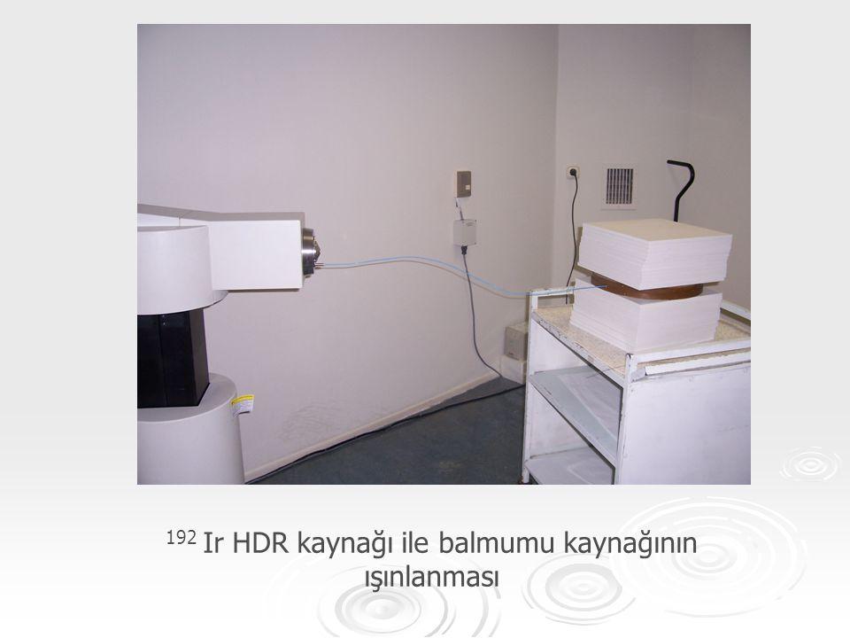 192 Ir HDR kaynağı ile balmumu kaynağının ışınlanması
