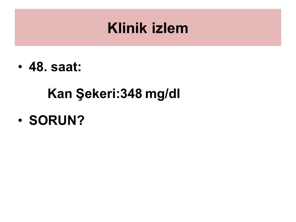 Klinik izlem 48. saat: Kan Şekeri:348 mg/dl SORUN?