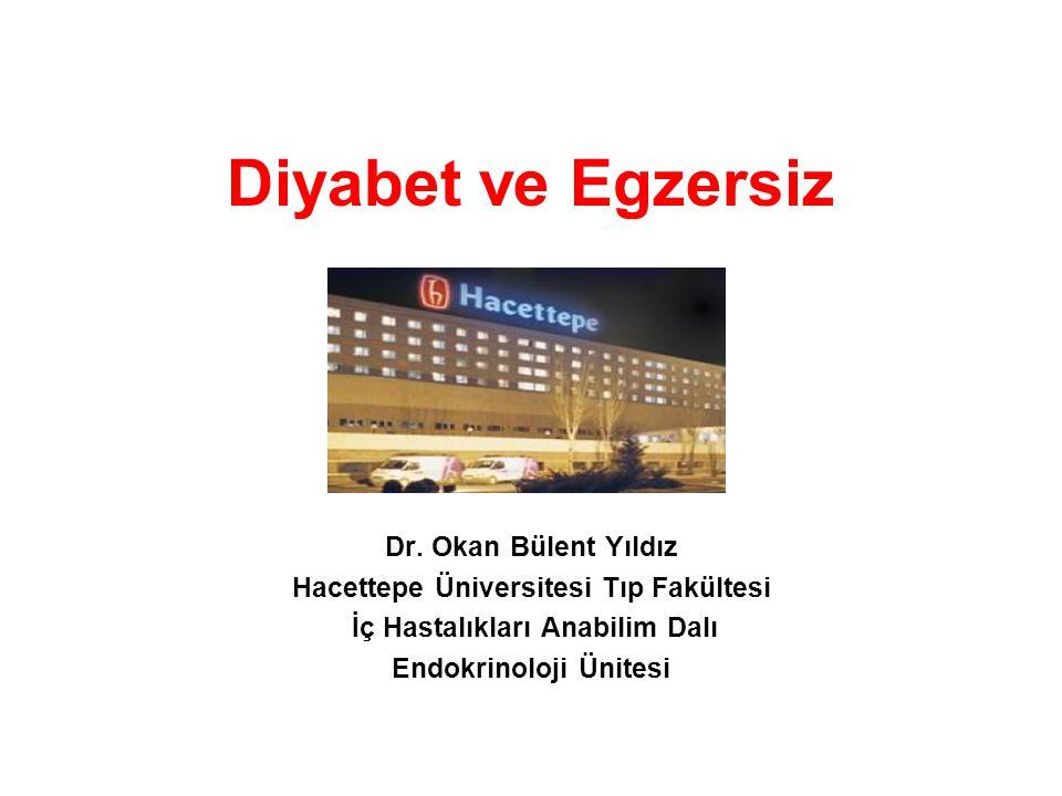 Diyabet ve Egzersiz Dr. Okan Bülent Yıldız Hacettepe Üniversitesi Tıp Fakültesi İç Hastalıkları Anabilim Dalı Endokrinoloji Ünitesi