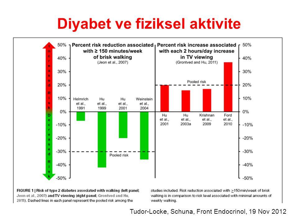 Diyabet ve fiziksel aktivite Tudor-Locke, Schuna, Front Endocrinol, 19 Nov 2012