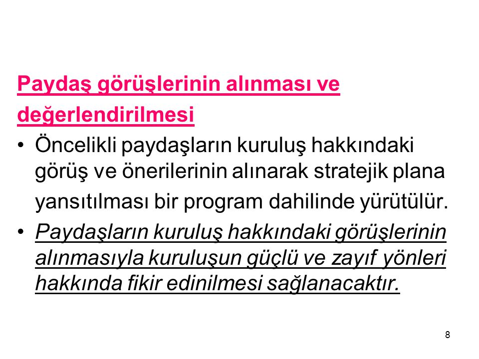 PAYDAŞLARHİZMET ALANLAR TEMEL ORTAK STRATEJİK ORTAK İÇ PAYDAŞ DIŞ PAYDAŞ Basın ve Yayın Kuruluşları XX MuhtarlarXX HemşerilerXX SendikalarXX Belediye PersoneliX İZKAXX Türkiye Belediyeler Birliği XX 19