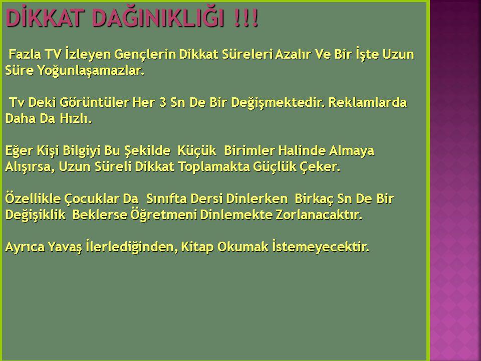 DİKKAT DAĞINIKLIĞI !!.