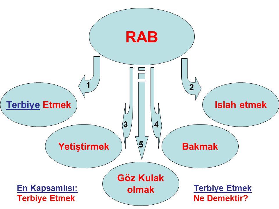 RAB, belirsiz formlarda gelir; Bu ne demektir..