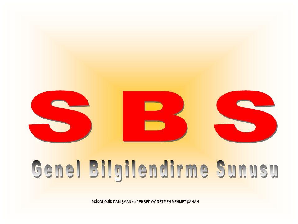 SBS * SBS Artık Tek Sınav *Yeni SBS Neler Getiriyor.