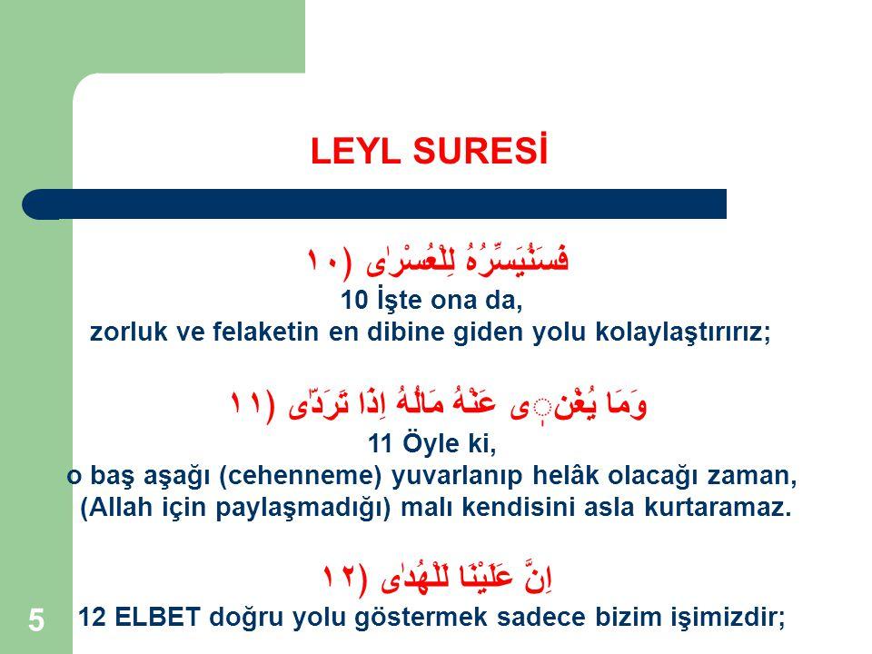 16 5.Ateşe Karşı Uyarı Azab ve cezadan önce Uyarı yapmak Allah'ın ilkesidir.