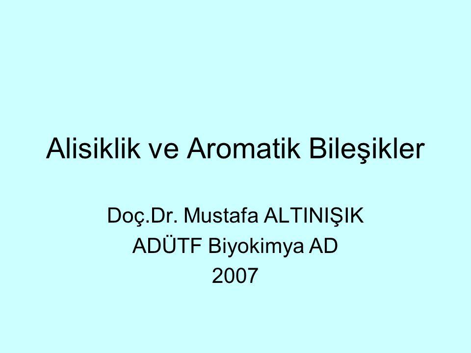 Alisiklik ve Aromatik Bileşikler Doç.Dr. Mustafa ALTINIŞIK ADÜTF Biyokimya AD 2007