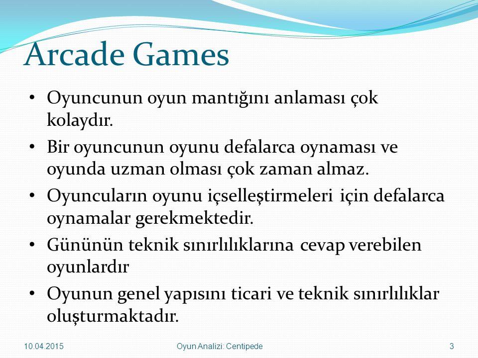 Arcade Games Oyuncunun oyun mantığını anlaması çok kolaydır. Bir oyuncunun oyunu defalarca oynaması ve oyunda uzman olması çok zaman almaz. Oyuncuları