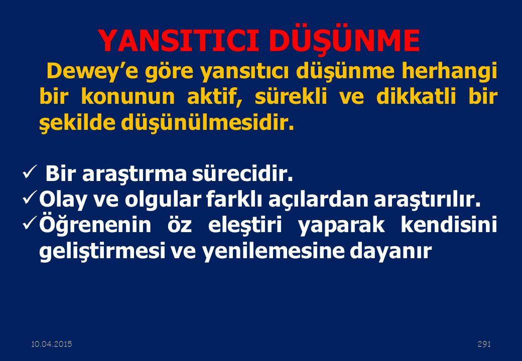 DÜŞÜNME BİÇİMLERİ 29010.04.2015