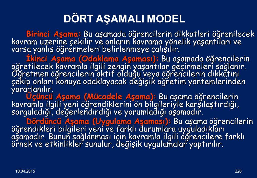 YAPILANDIRMACI ÖĞRENME KURAMININ SINIFTA UYGULANMA MODELLERİ 227 10.04.2015