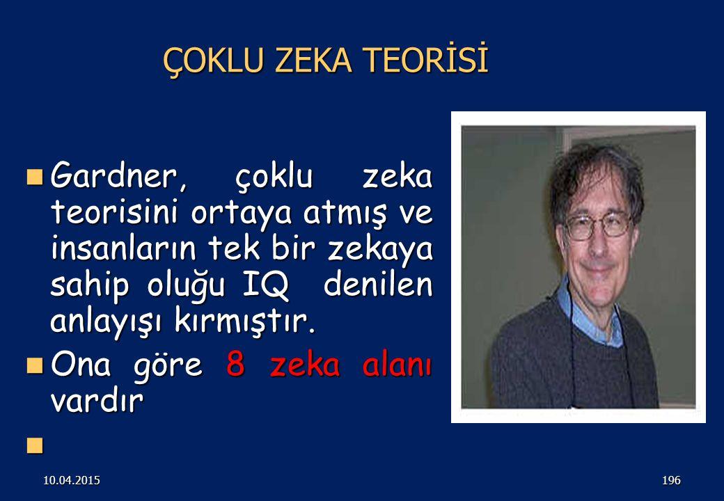 ÇOKLU ZEKA KURAMI ( GARDNER) 19510.04.2015