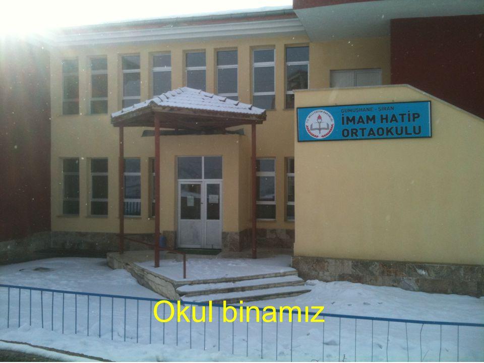 Yeni tahsisi yapılan bina Okul binamız