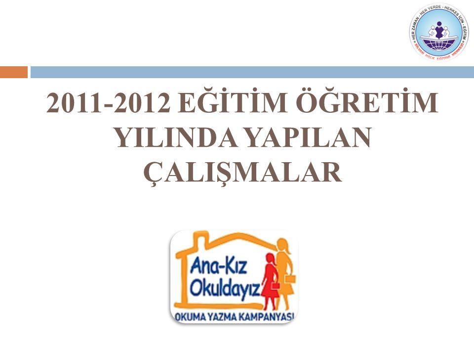 Gündem Maddeleri  2011–2012 Eğitim Öğretim yılında yapılan çalışmaların değerlendirilmesi  Ana-Kız Okuldayız Okuma Yazma Kampanyası'yla ilgili yapılan çalışmaların değerlendirilmesi.