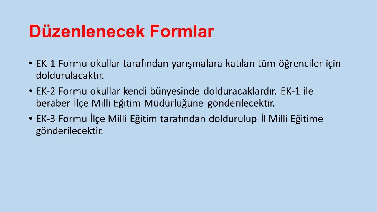 İl Birinciliği Yarışma Takvimi SINIFLARTARİH VE SAATYER 1.