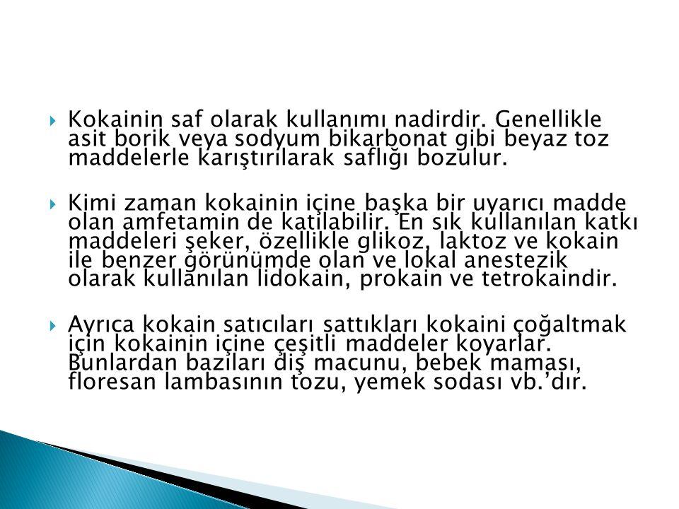  Genellikle coke olarak adlandırılır.Türkiye dışında snow, girl, lady isimleri verilmektedir.