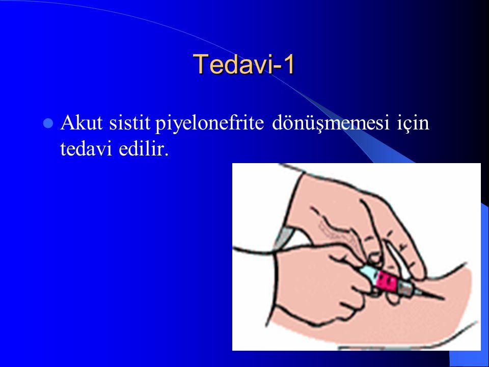 37 Tedavi-1 Akut sistit piyelonefrite dönüşmemesi için tedavi edilir.