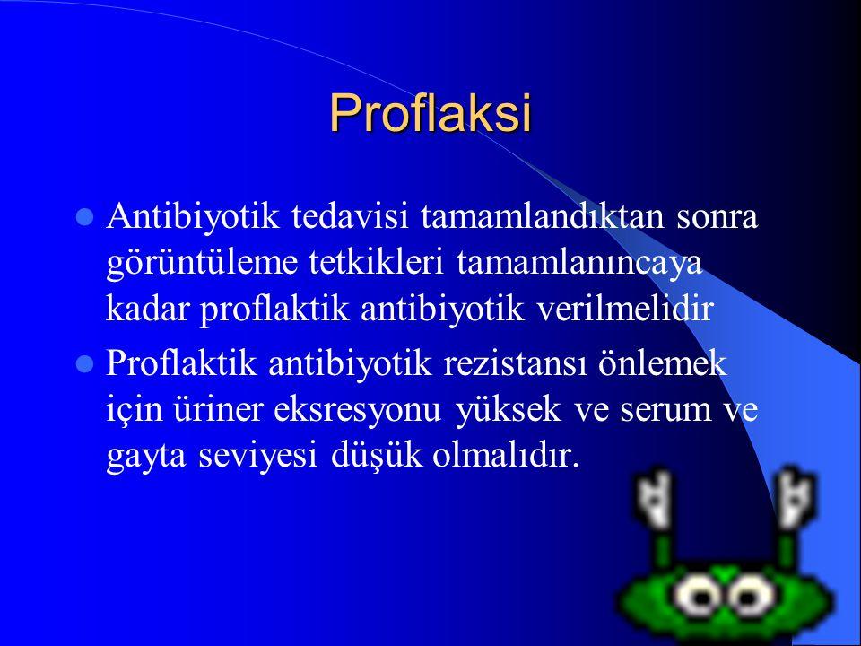 40 Proflaksi Antibiyotik tedavisi tamamlandıktan sonra görüntüleme tetkikleri tamamlanıncaya kadar proflaktik antibiyotik verilmelidir Proflaktik anti