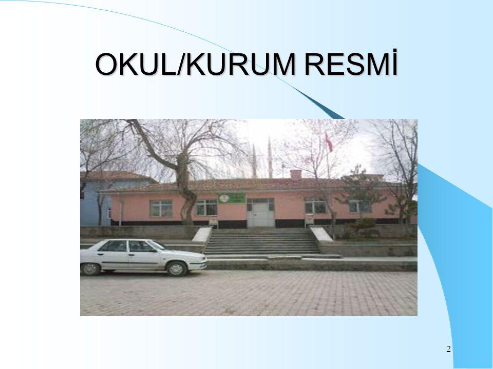 2 OKUL/KURUM RESMİ