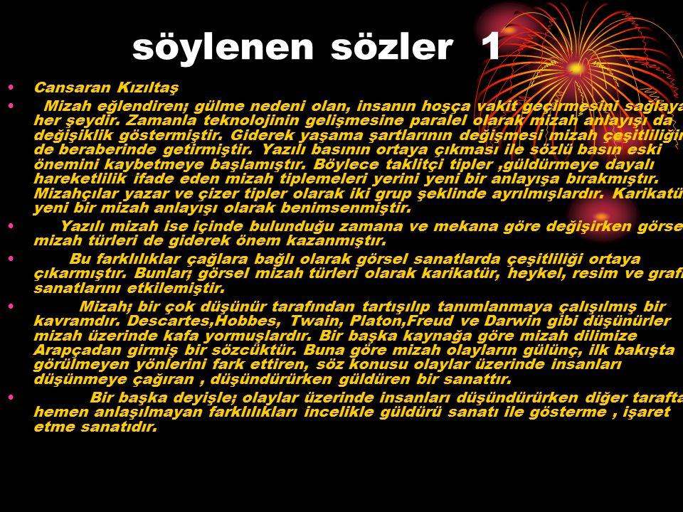 devamı s.2 Mizahın Türkçe karşılığı Güldürü dür.