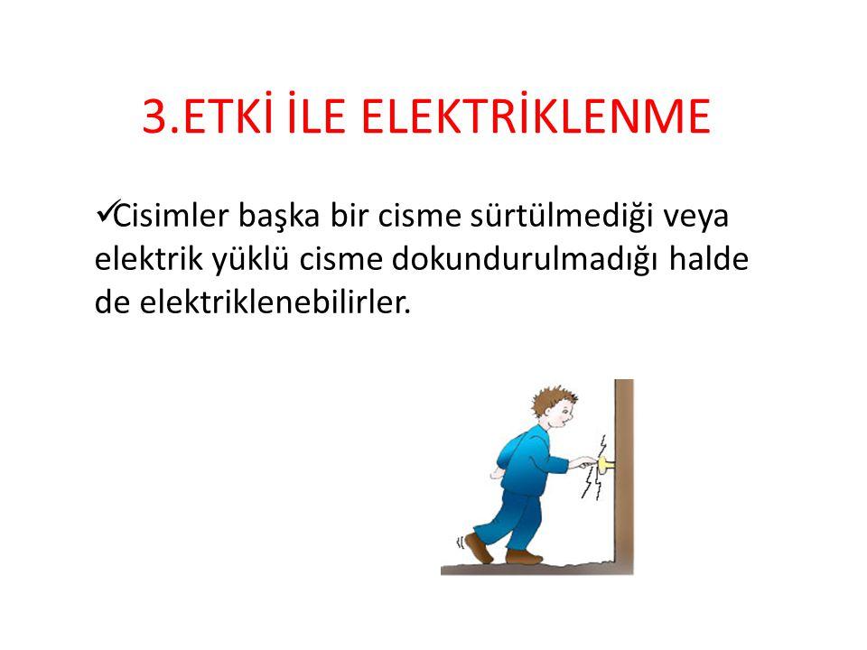 DENEY DENEYİN AMACI ; Cisimlerin hangi tür elektriklenme ile elektriklendiğini anlamak.