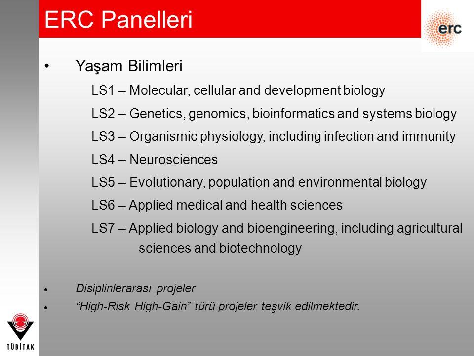 Yaşam Bilimleri LS1 – Molecular, cellular and development biology LS2 – Genetics, genomics, bioinformatics and systems biology LS3 – Organismic physio